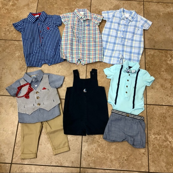 Lot of Six 6-9M Boys Dressy Outfits